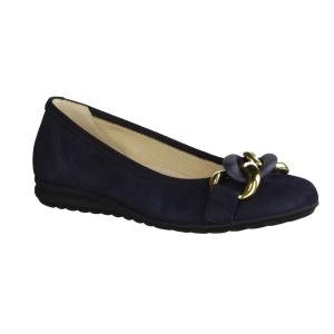 Paul Green 2409-054 Denim/Glacier (blau) - Ballerina