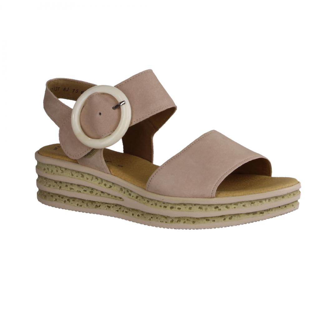 Damen Sandalen Rosa Gabor Leder Keil Sandaletten 2019 Shops