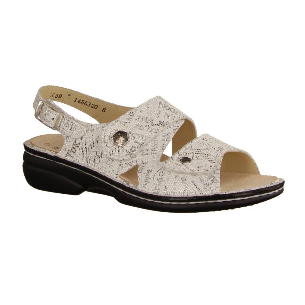 huge discount 7d7a9 b75af Waldläufer 684090-893 Offwhite/Silber (weiß) - Sandale mit loser Einlage