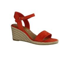 Paul Green 7498-014,Rot Red/Pink - elegante Sandale